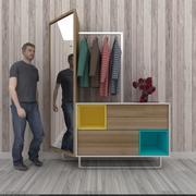 Coat hanger furniture 3d model
