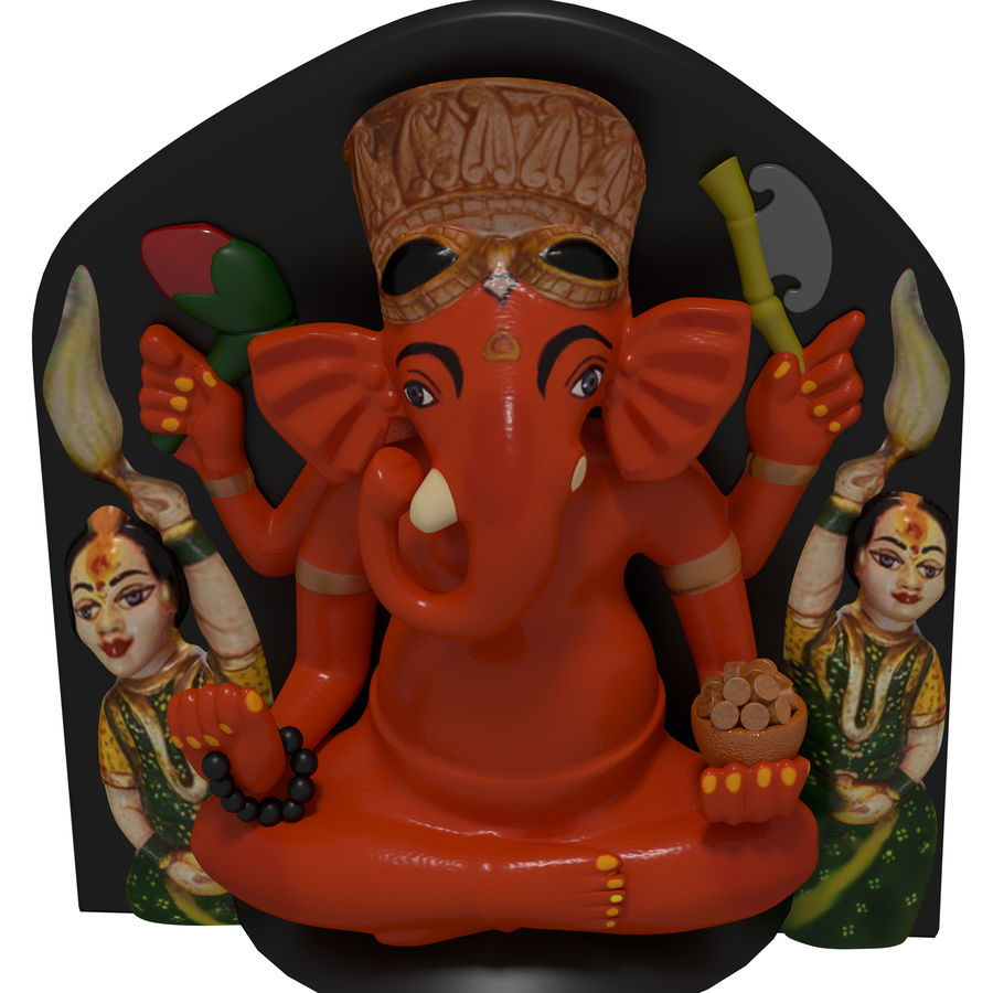 Ganesha royalty-free 3d model - Preview no. 2