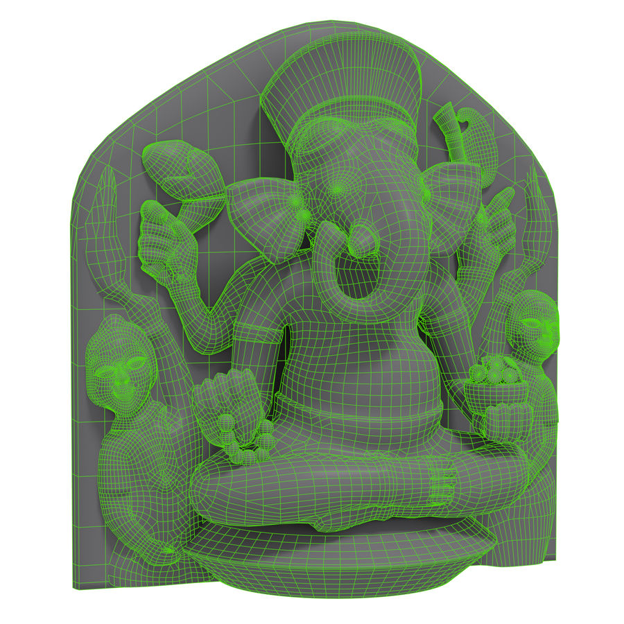 Ganesha royalty-free 3d model - Preview no. 8