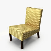 Armless Accent Chair 3d model