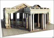Greek Temple V2 3d model