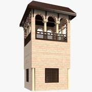 Bâtiment de la tour islamique 3d model