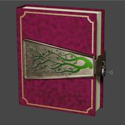 Gammal bok med lås 3d model