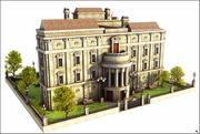 Large Village House V1 3d model