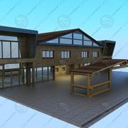 Cafe-restaurant 3d model