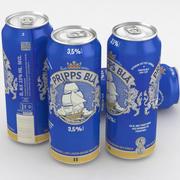 啤酒罐Pripps Bla 500毫升 3d model