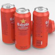Beer Can Estrella Damm Barcelona 500 ml 3d model