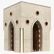 イスラム教のアラブの建物 3d model