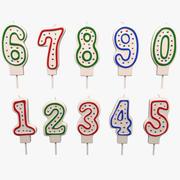 Number Candles Set 3d model