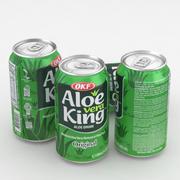 飲料缶OKFアロエベラキング350ml 3d model