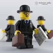 レゴビジネスマン図 3d model