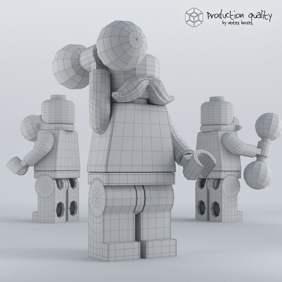 Lego Circus Strong Man royalty-free 3d model - Preview no. 5