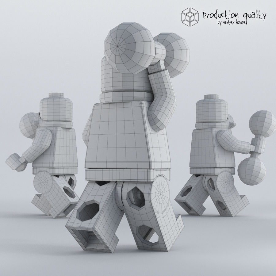 Lego Circus Strong Man royalty-free 3d model - Preview no. 6