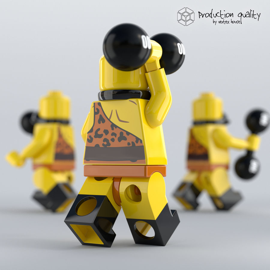 Lego Circus Strong Man royalty-free 3d model - Preview no. 2