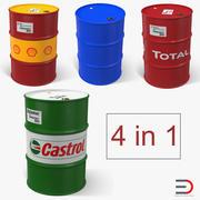 Oil Barrels 3D Models Collection 3d model