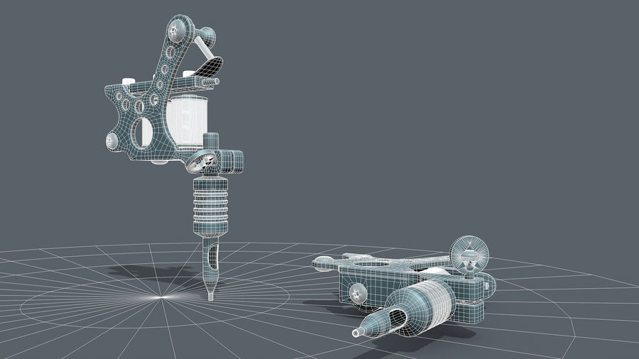 Tattoo Machine royalty-free 3d model - Preview no. 11