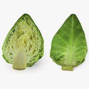 Sweetheart Cabbage Half 3D Model 3d model
