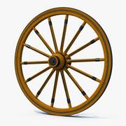 Roda de vagão antiga 3d model