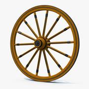 Antyczne koło wagonu 3d model