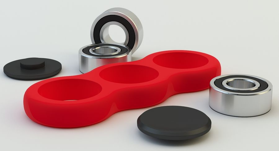 Fidget spinner royalty-free 3d model - Preview no. 8