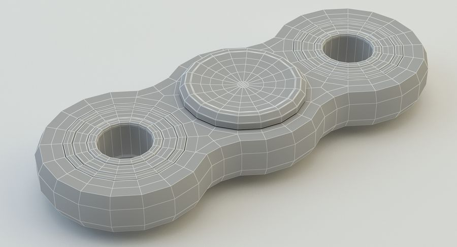Fidget spinner royalty-free 3d model - Preview no. 16