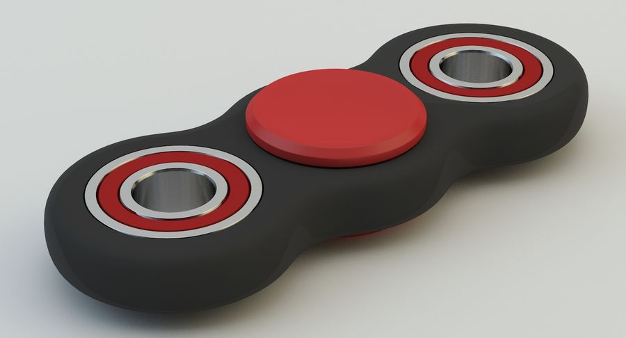 Fidget spinner royalty-free 3d model - Preview no. 11