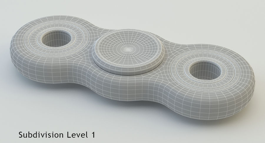 Fidget spinner royalty-free 3d model - Preview no. 14