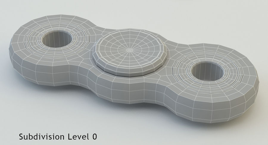 Fidget spinner royalty-free 3d model - Preview no. 13