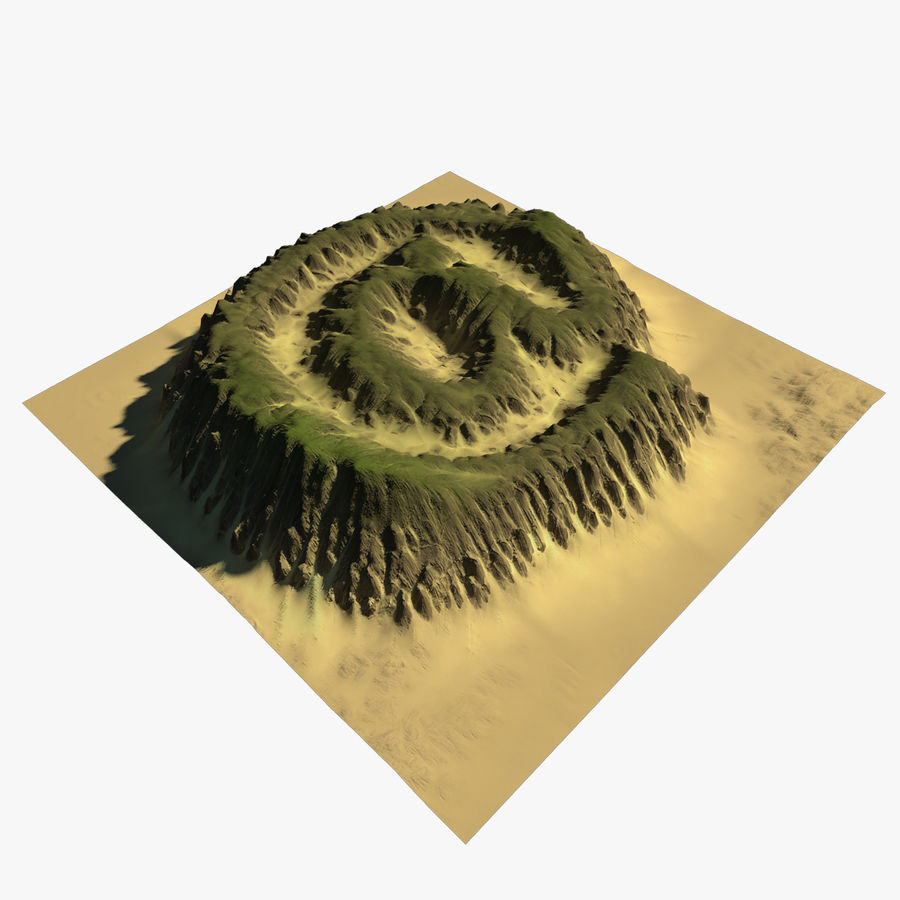 At Sign Symbol Terrain royalty-free 3d model - Preview no. 1