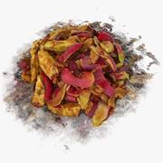 Apfelfruchtschalen-Stapel-Frucht-Straßen-Trödel-Stapel-Bananen-Orangen-Lebensmittelgeschäft-essbarer Schaden-Stütze-Schutt-Verschmutzung 3d model