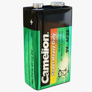 电池驼峰9v 3d model