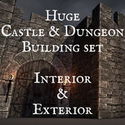 Set di creazione modulare Castle & Dungeon per Blender 3d, V2 3d model