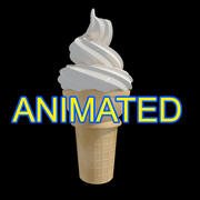 蛋卷冰淇淋 3d model