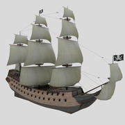 Piratenschip 3d model