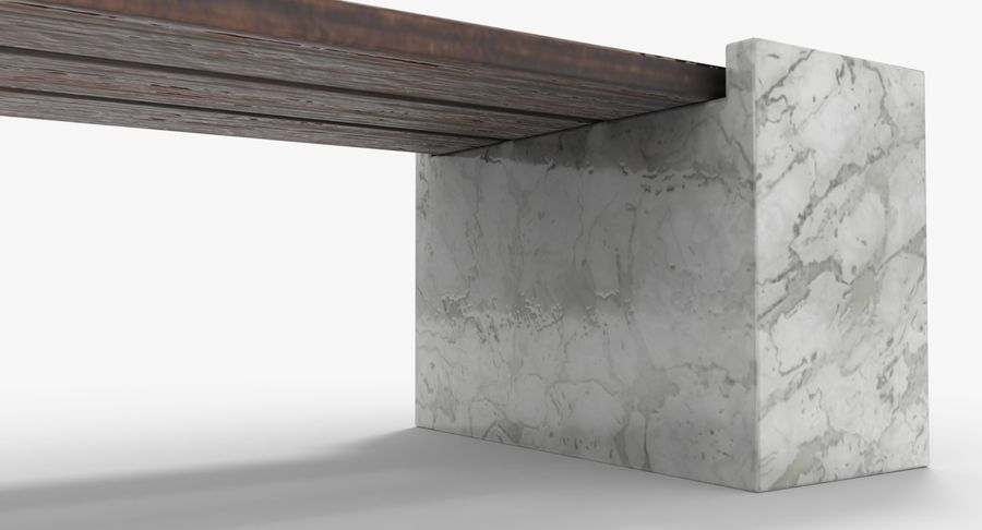 Bench royalty-free 3d model - Preview no. 8