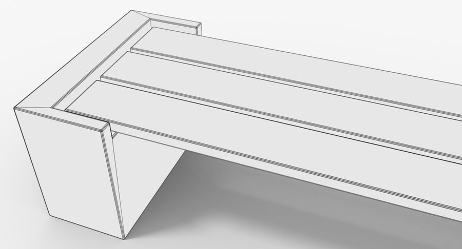 Bench royalty-free 3d model - Preview no. 13