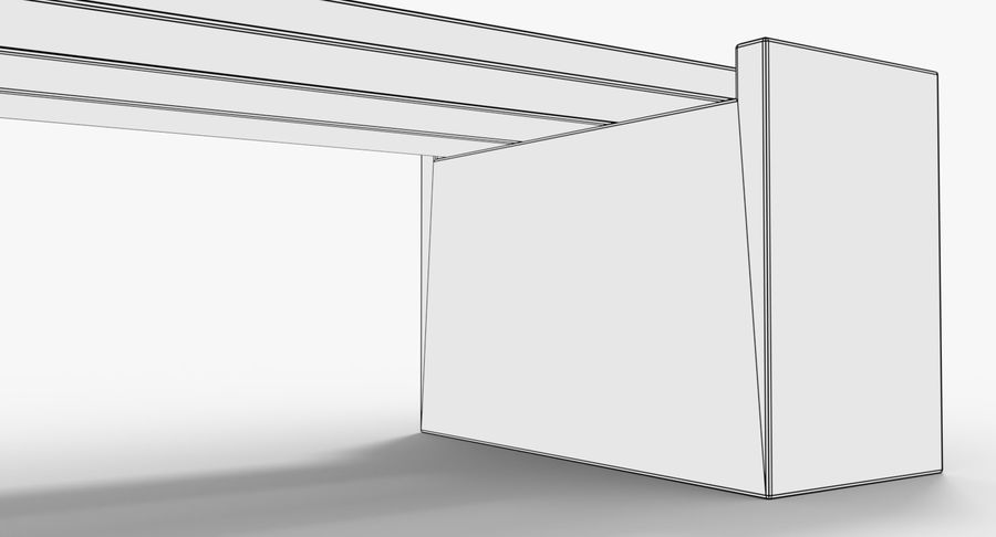 Bench royalty-free 3d model - Preview no. 9