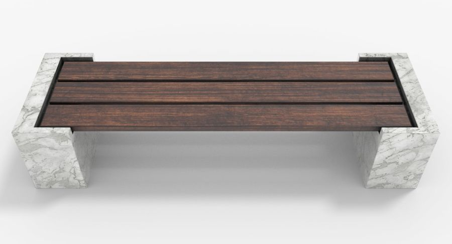 Bench royalty-free 3d model - Preview no. 6