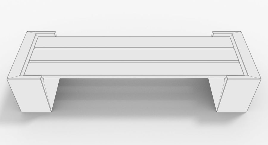 Bench royalty-free 3d model - Preview no. 7