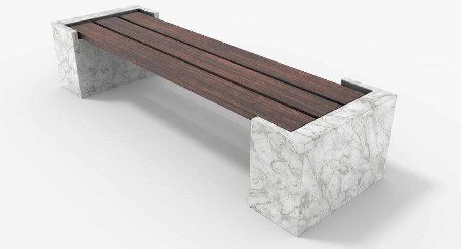 Bench royalty-free 3d model - Preview no. 10