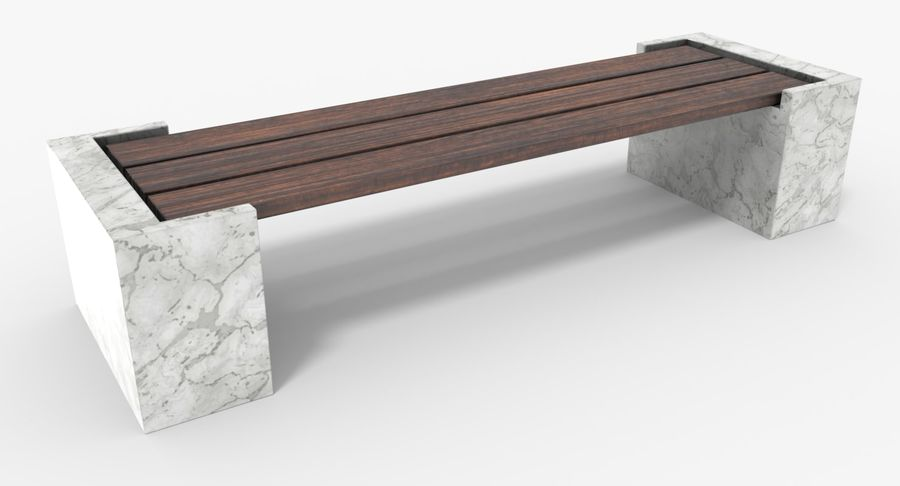 Bench royalty-free 3d model - Preview no. 3