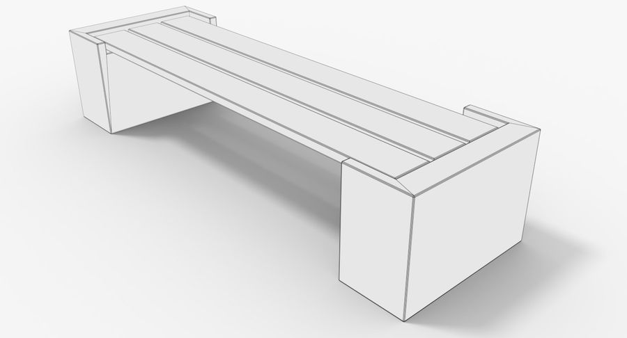 Bench royalty-free 3d model - Preview no. 11