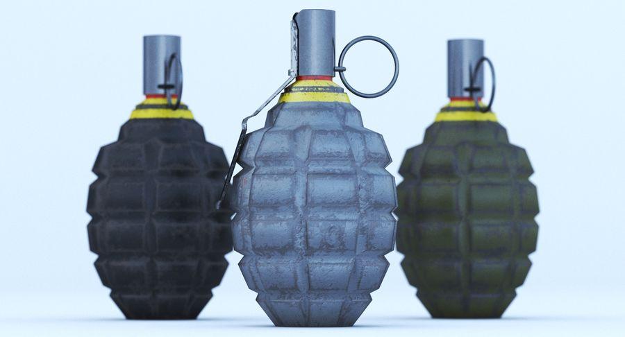 Three Grenades royalty-free 3d model - Preview no. 5