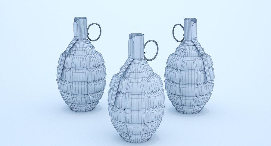 Three Grenades royalty-free 3d model - Preview no. 9