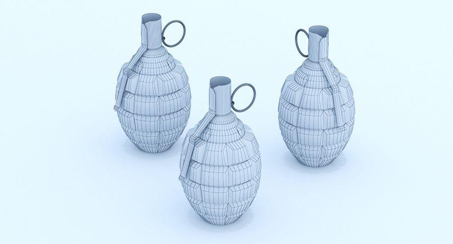 Three Grenades royalty-free 3d model - Preview no. 10