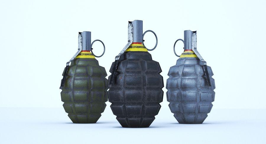 Three Grenades royalty-free 3d model - Preview no. 7