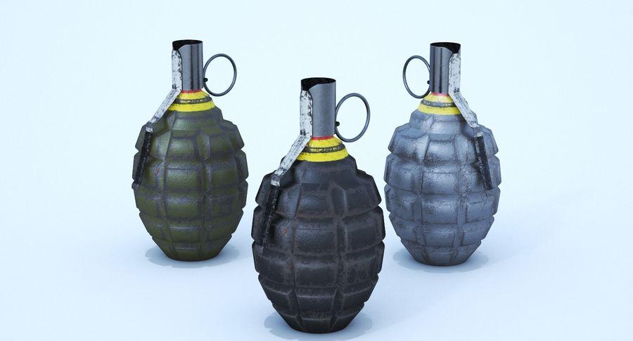 Three Grenades royalty-free 3d model - Preview no. 3