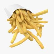 Fries Box 02 3d model