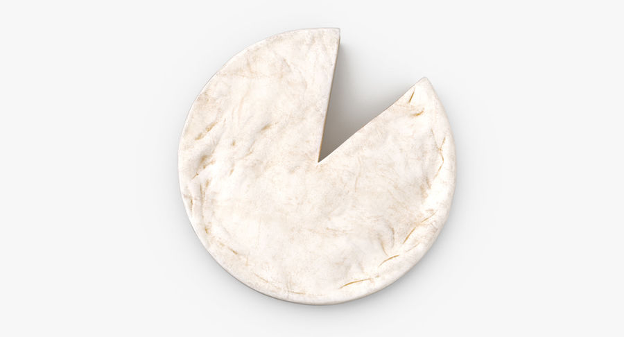 Brie Cheese Wheel Cut royalty-free 3d model - Preview no. 8