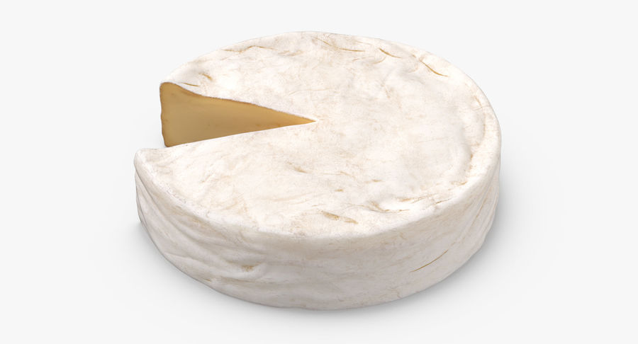 Brie Cheese Wheel Cut royalty-free 3d model - Preview no. 4